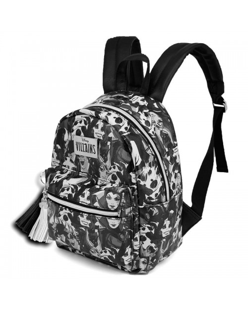 OFFICIAL DISNEY VILLAINS - MALEFICENT, CRUELLA DE VIL, THE EVIL QUEEN & URSULA MINI BACKPACK BAG