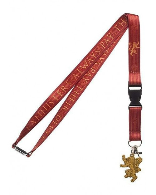 GAME OF THRONES HOUSE LANNISTER PRINTED LANYARD