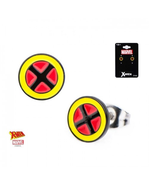 MARVEL COMICS X-MEN SYMBOL ROUND STUD EARRINGS