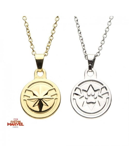 MARVEL COMICS - CAPTAIN AMERICA AND GOOSE FRIENDSHIP NECKLACE