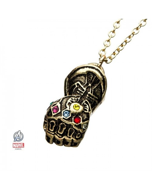 MARVEL COMICS AVENGERS ENDGAME INFINITY GAUNTLET PENDANT NECKLACE