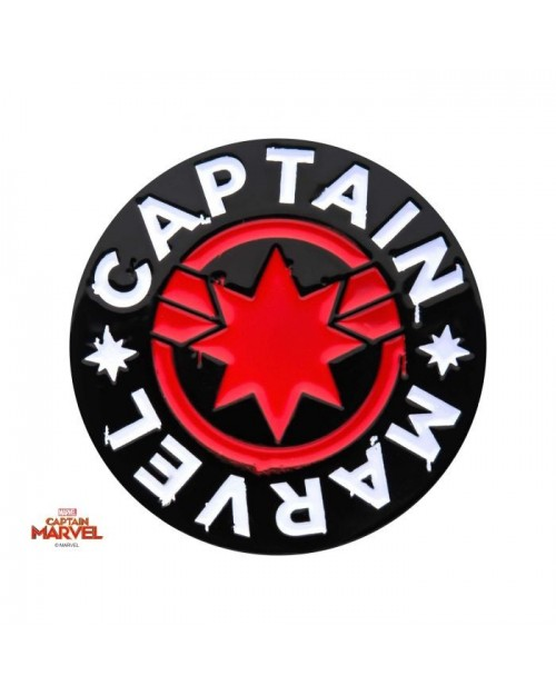 MARVEL COMICS CAPTAIN MARVEL PUNK STYLED METAL PIN BADGE