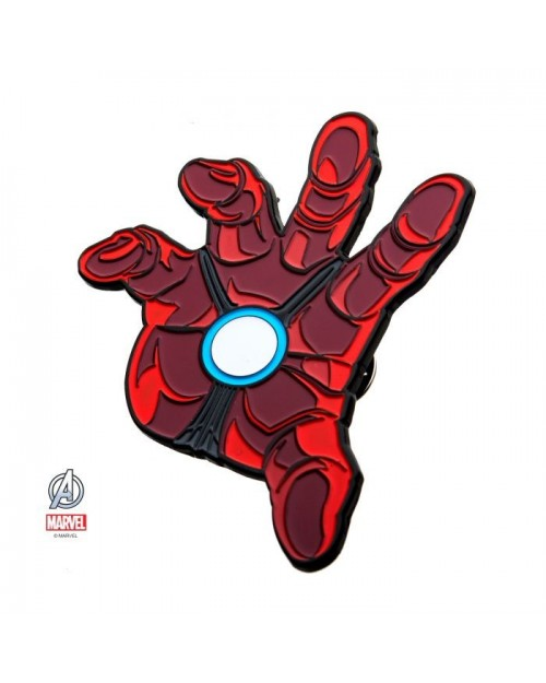 MARVEL COMICS AVENGERS ENDGAME IRON MAN ARMOR SUIT UP HAND METAL PIN BADGE