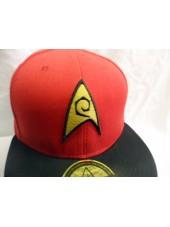 RED STAR TREK STARFLEET ENGINEERING SNAPBACK CAP
