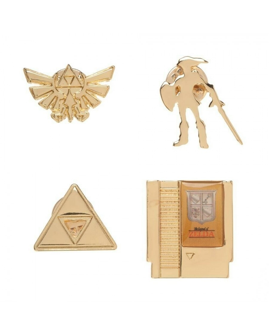 NINTENDO - THE LEGEND OF ZELDA ICONS AND SYMBOLS SET OF 4 METAL PIN BADGE