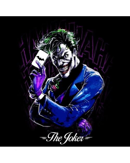 OFFICIAL DC COMICS THE JOKER LINE ART PRINT BLACK T-SHIRT