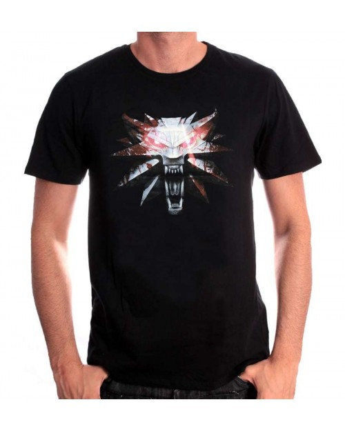OFFICIAL WITCHER 3 - MEDALLION & SIGNS OF WITCHER BLACK T-SHIRT