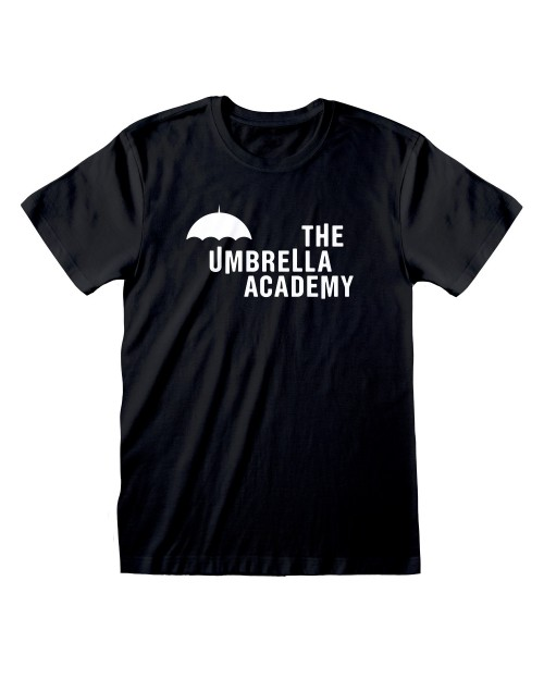 OFFICIAL THE UMBRELLA ACADEMY LOGO BLACK T-SHIRT