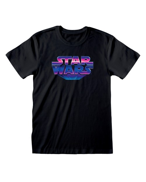 OFFICIAL STAR WARS 80'S LOGO BLACK T-SHIRT