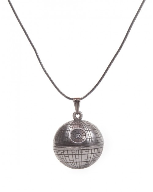 STAR WARS DEATH STAR GREY PENDANT NECKLACE
