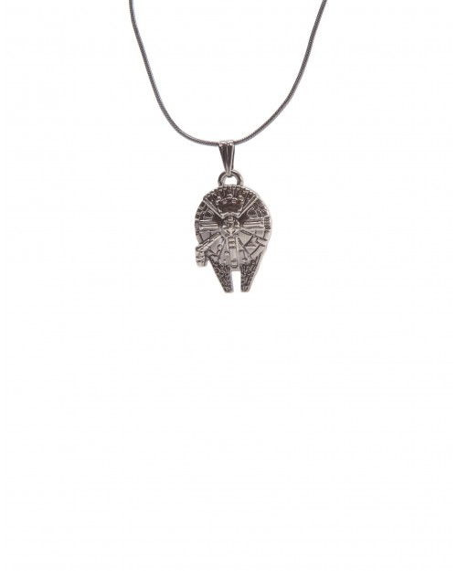 STAR WARS MILLENNIUM FALCON GREY PENDANT NECKLACE