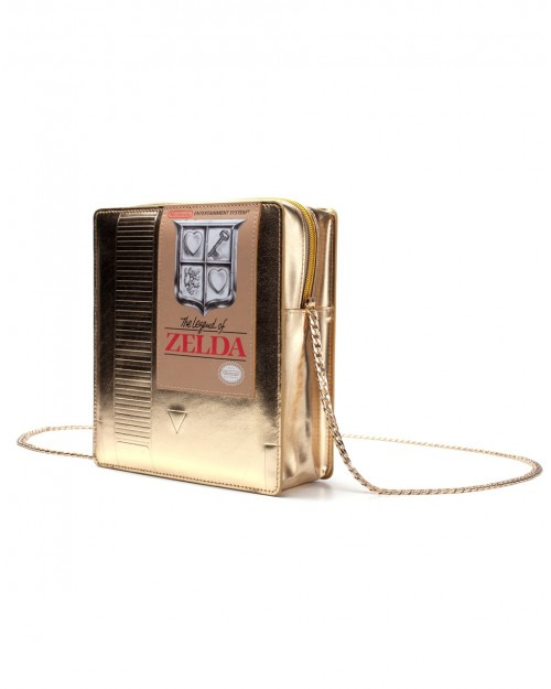 OFFICIAL NINTENDO THE LEGEND OF ZELDA NES CARTRIDGE GOLD MINI SHOULDER BAG