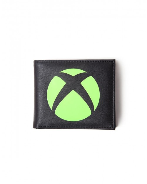 OFFICIAL MICROSOFT XBOX LOGO READY TO PLAY PRINT BLACK WALLET