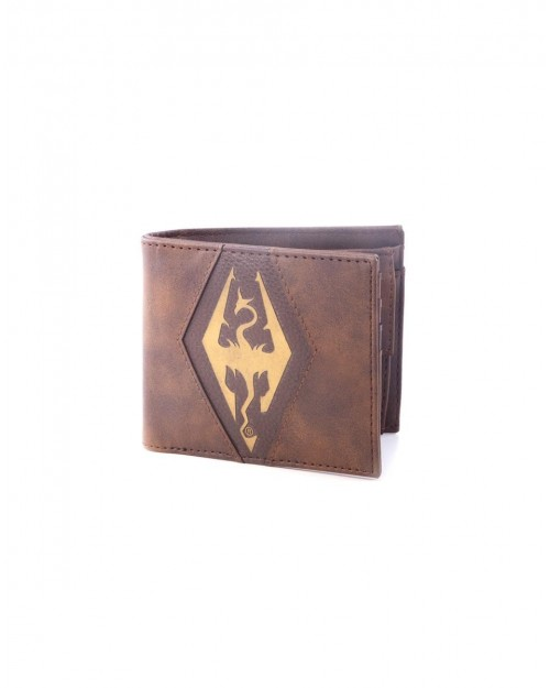 OFFICIAL THE ELDER SCROLLS DRAGONBORN SYMBOL BROWN WALLET