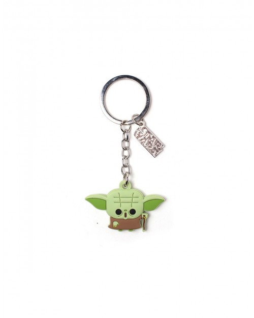 OFFICIAL STAR WARS - YODA LOOKING CUTE RUBBER KEYRING