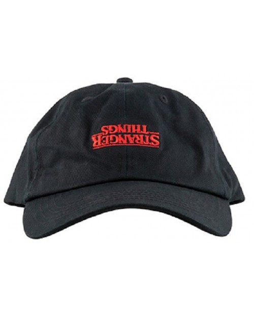 NETFLIX - STRANGER THINGS THE UPSIDE DOWN EMBROIDERED STRAPBACK BASEBALL CAP 'DAD' HAT
