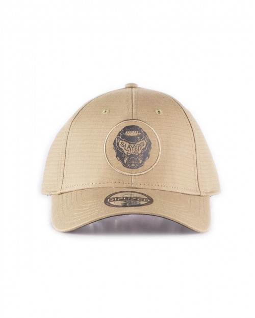 DOOM ETERNAL SLAYERS CLUB BEIGE STRAPBACK BASEBALL CAP