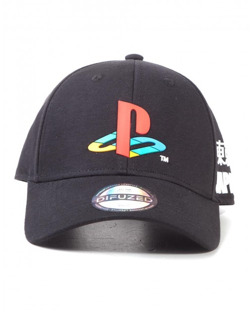 SONY PLAYSTATION SYMBOL TOKYO BLACK ADJUSTABLE BASEBALL CAP