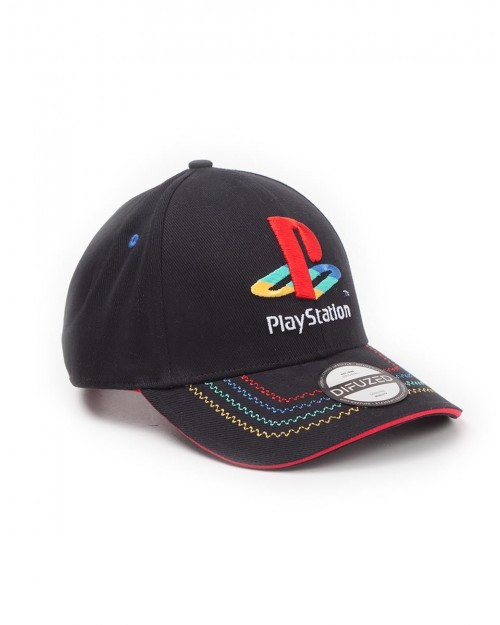SONY PLAYSTATION SYMBOL RETRO BLACK STRAPBACK BASEBALL CAP