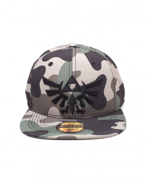 OFFICIAL NINTENDO - THE LEGEND OF ZELDA TRIFORCE CAMOUFLAGE PRINT SNAPBACK CAP