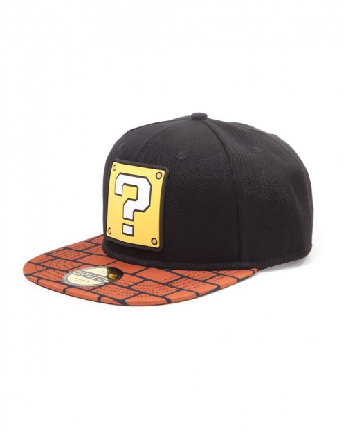 OFFICIAL NINTENDO - SUPER MARIO BROS QUESTION MARK BRICK BLACK SNAPBACK CAP