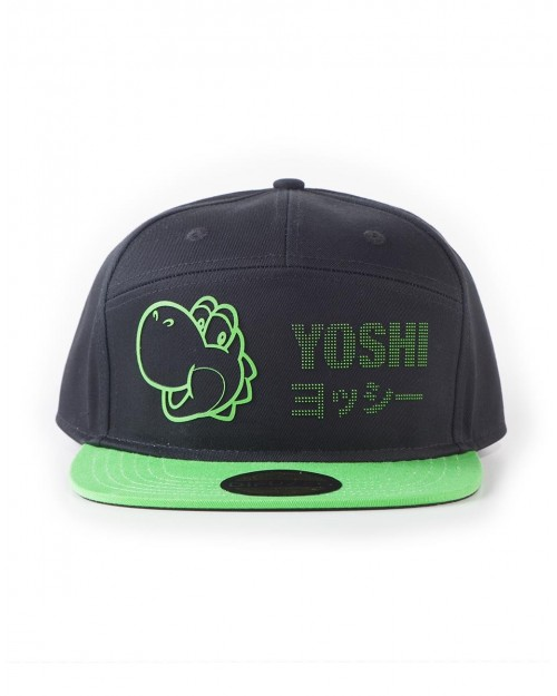 OFFICIAL NINTENDO SUPER MARIO BROS YOSHI RUBBER BLACK STRAPBACK CAP