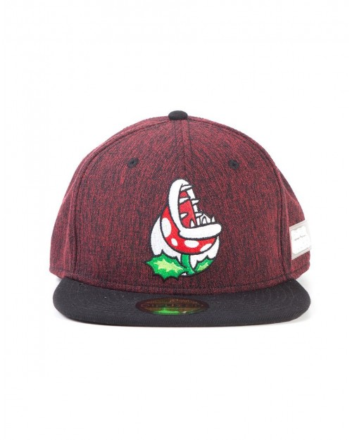 OFFICIAL NINTENDO SUPER MARIO BROS PIRANHA BURGUNDY SNAPBACK CAP