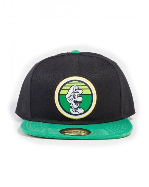 OFFICIAL NINTENDO SUPER MARIO BROS RETRO LUIGI ROUND BLACK SNAPBACK CAP