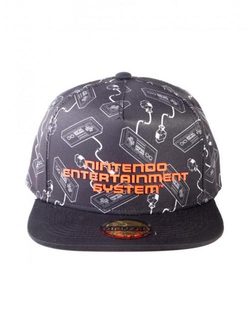 OFFICIAL NINTENDO NES CONTROLLER PRINT BLACK SNAPBACK CAP