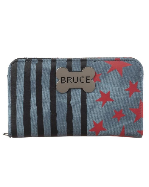 DC COMICS BIRDS OF PREY HARLEY QUINN BRUCE HYENA CLUTCH PURSE/ WALLET
