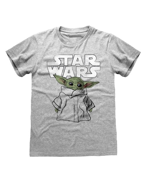 STAR WARS THE MANDALORIAN BABY YODA GREY T-SHIRT