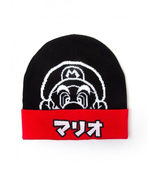 OFFICIAL NINTENDO - SUPER MARIO BROS BULLET BILL KNITTED STYLED GREY CUFF BEANIE