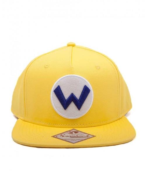 NINTENDO SUPER MARIO BROS WARIO YELLOW SNAPBACK CAP