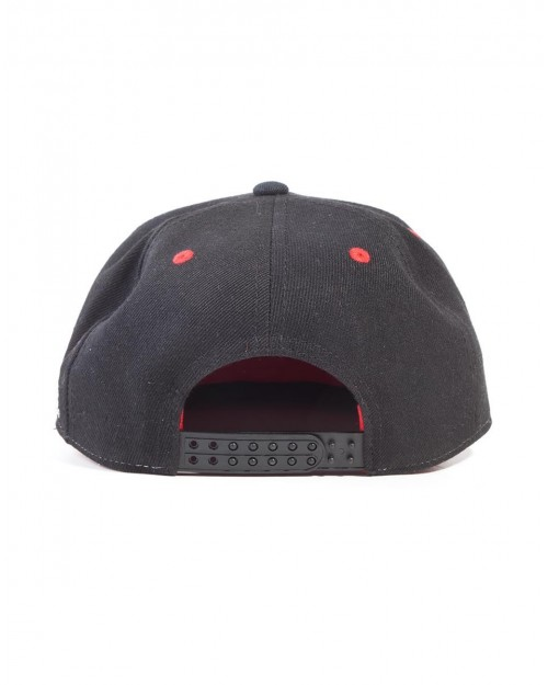 OFFICIAL GEARS OF WAR CRIMSON OMEN SYMBOL EMBROIDERED BLACK SNAPBACK CAP