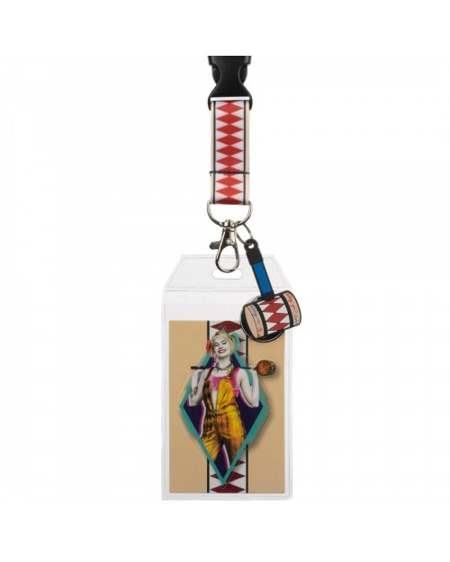 BIRDS OF PREY HARLEY QUINN STYLED PRINTED LANYARD