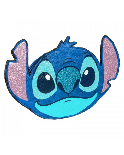 OFFICIAL DISNEY LILO & STITCH - STITCH FACE GLITTERY ZIP COIN PURSE