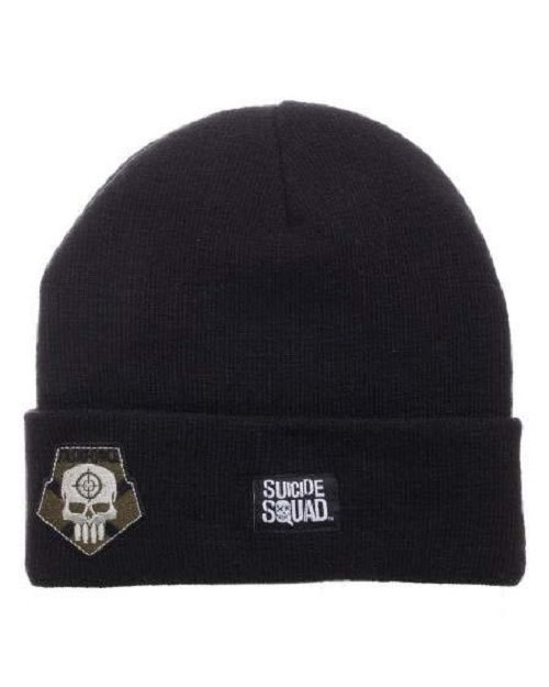 DC COMICS SUICIDE SQUAD LOGO TASKFORCE X BLACK BEANIE WITH PEAK