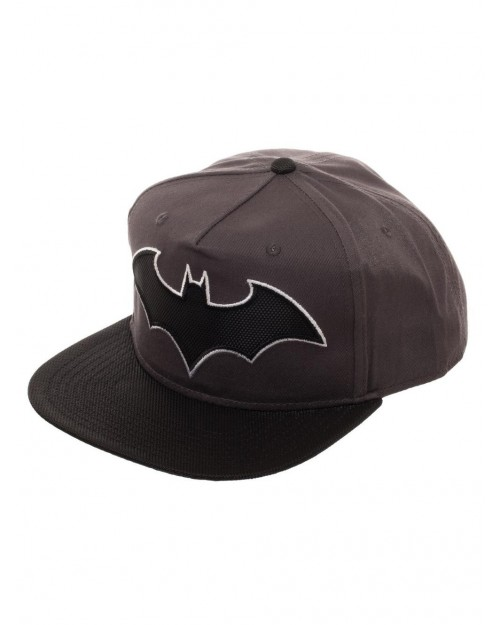 OFFICIAL DC COMICS BATMAN SYMBOL CARBON BLACK SNAPBACK CAP