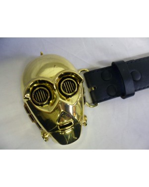 STAR WARS C-3PO PROTOCOL DROID 3D HEAD BUCKLE with BELT