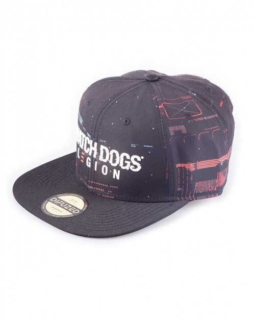 OFFICIALUBISOFT WATCH DOGS LEGION GLITCH LOGO BLACK SNAPBACK CAP
