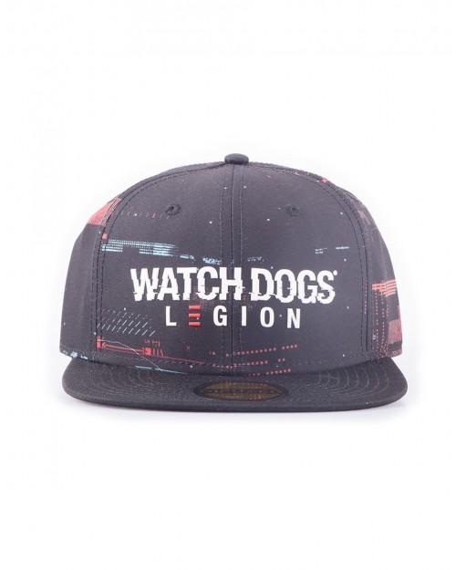 OFFICIAL UBISOFT WATCH DOGS LEGION GLITCH LOGO BLACK SNAPBACK CAP