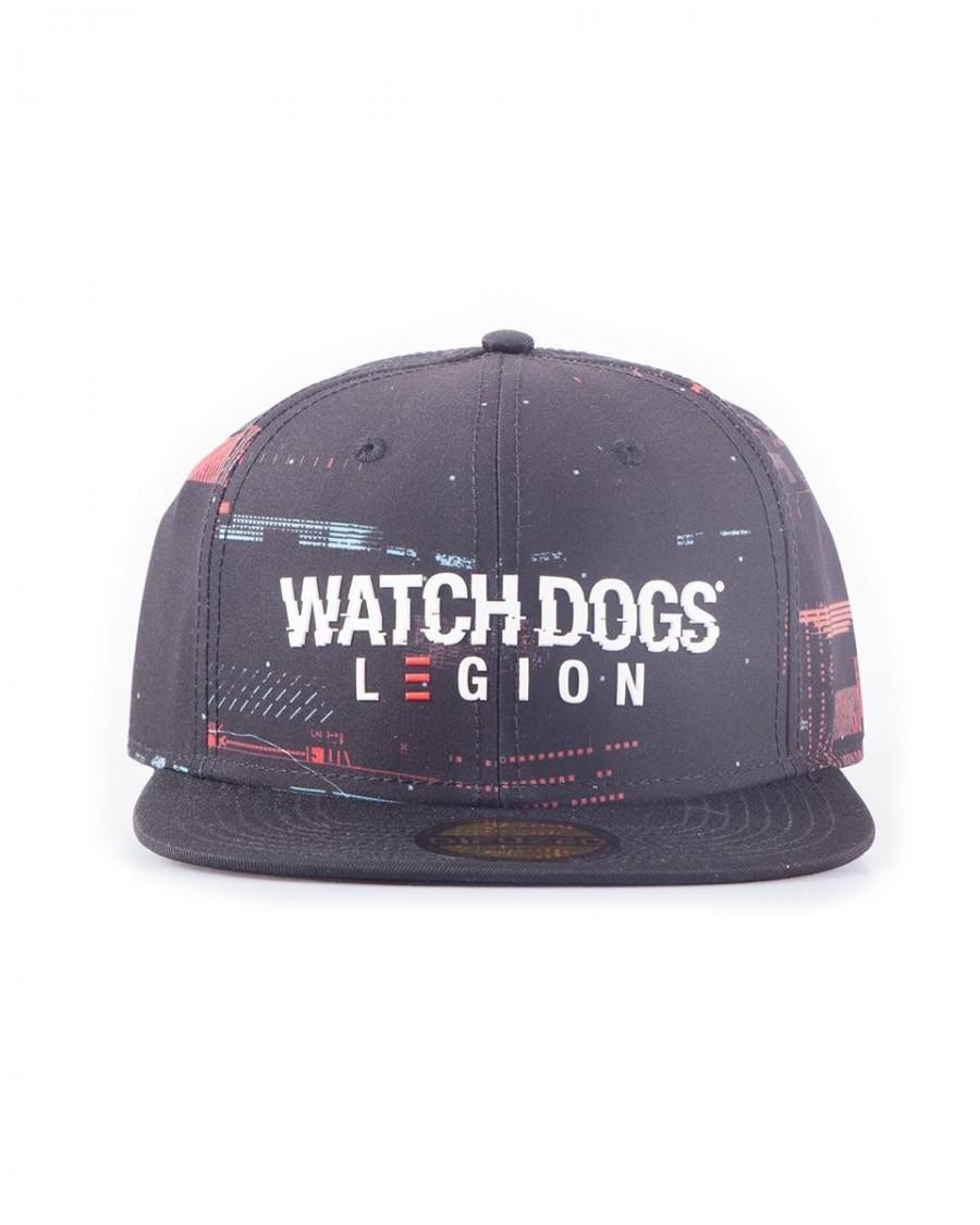 OFFICIALUBISOFT WATCH DOGS LEGION GLITCH LOGO BLACK SNAPBACK CAP