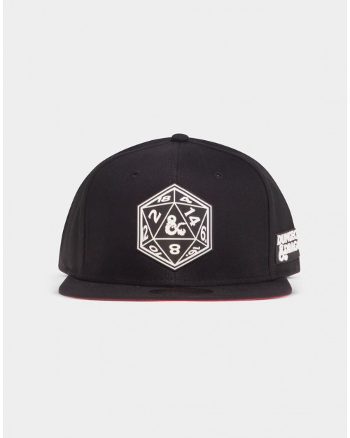 OFFICIAL DUNGEONS & DRAGONS DICE SYMBOL BLACK SNAPBACK CAP