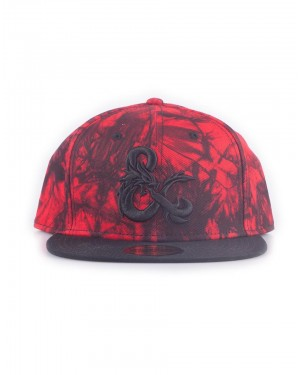 OFFICIAL DUNGEONS & DRAGONS ICONIC LOGO RED DYE PRINT SNAPBACK CAP