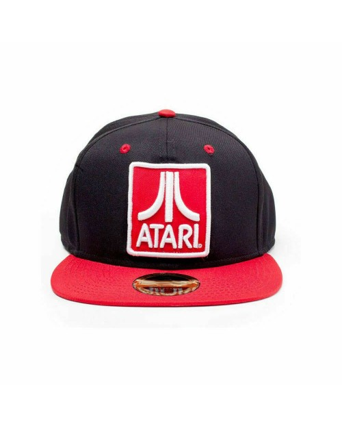 OFFICIAL ATARI CLASSIC LOGO BLACK AND RED SNAPBACK CAP
