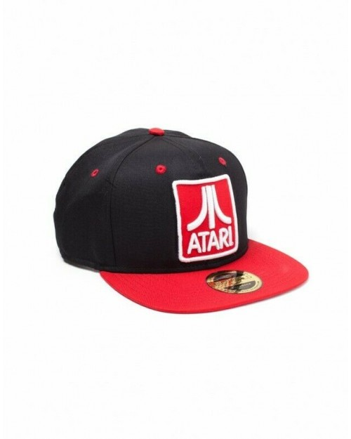 OFFICIAL ATARI CLASSIC LOGO BLACK AND RED SNAPBACK CAP