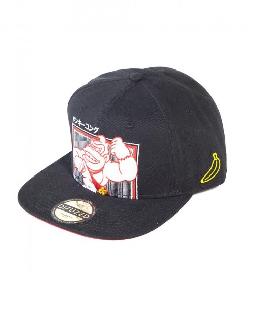 OFFICIAL NINTENDO - DONKEY KONG JAPANESE TEXT BLACK SNAPBACK CAP