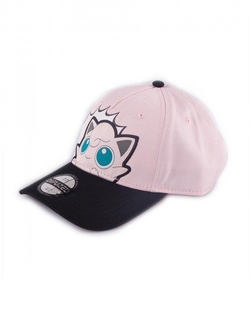 OFFICIAL NINTENDO - POKEMON JIGGLYPUFF POP ART PINK STRAPBACK BASEBALL CAP
