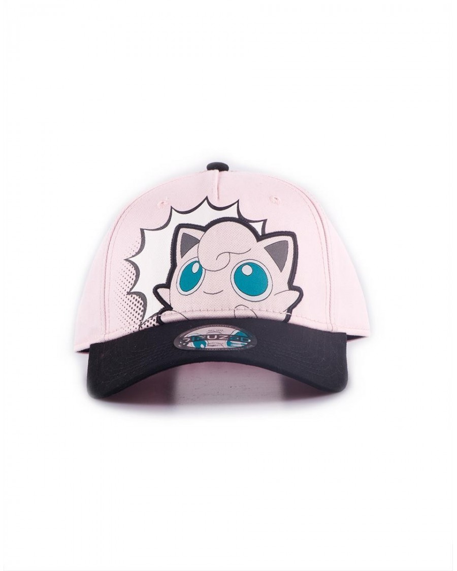 OFFICIAL NINTENDO - POKEMON JIGGLYPUFF POP ART PINK STRAPBACK BASEBALL CAP