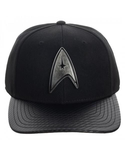 OFFICIAL STAR TREK COMMANDER METAL SYMBOL BLACK SNAPBACK BASEBALL CAP